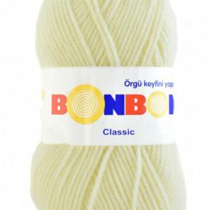 Fir de tricotat sau crosetat - Fire tip mohair din acril BONBON CLASIC CREAM 98272