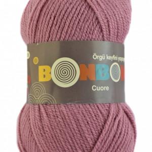 Fir de tricotat sau crosetat - Fire tip mohair din acril BONBON CUORE - ROZ - 98224