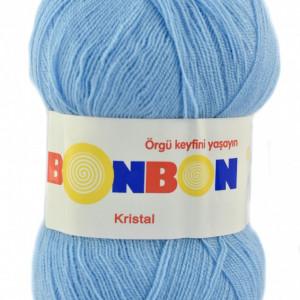 Fir de tricotat sau crosetat - Fire tip mohair din acril BONBON KRISTAL bleo 98231