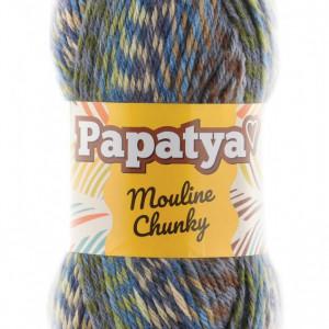Fir de tricotat sau crosetat - Fire tip mohair din acril Kamgarn Papatya Mouline Chunky Degrade 1105