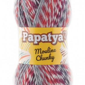 Fir de tricotat sau crosetat - Fire tip mohair din acril Kamgarn Papatya Mouline Chunky Degrade 4201