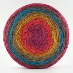Fir de tricotat sau crosetat - Fire tip mohair din acril Kamgarn Papatya CAKE degrade 204