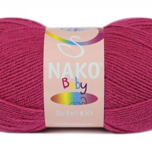 Fir de tricotat sau crosetat - Fire tip mohair din acril Nako Baby ROZ 10676