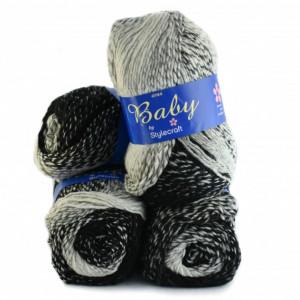 Fir de tricotat sau crosetat - Fire tip mohair din acril Nako Export - #8029-DEGRADE