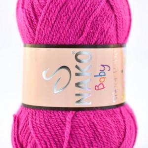 Fir de tricotat sau crosetat - Fire tip mohair din acril Nako SUPER BEBE MAGENTA 10888