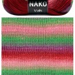 Fir de tricotat sau crosetat - Fire tip mohair din acril premium Nako VALS DEGRADE 86310