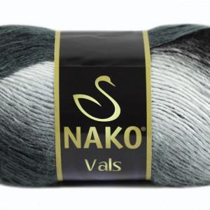 Fir de tricotat sau crosetat - Fire tip mohair din acril premium Nako VALS DEGRADE 85862