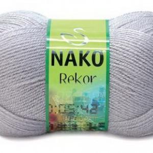 Fir de tricotat sau crosetat - Fire tip mohair din acril premium Nako REKOR GRI 3079