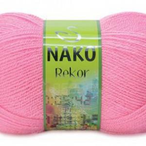 Fir de tricotat sau crosetat - Fire tip mohair din acril premium Nako REKOR ROZ 2244