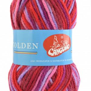 Fir de tricotat sau crosetat - Fire tip mohair din acril si lana GOLDEN WOOL IMPRIMAT - 387
