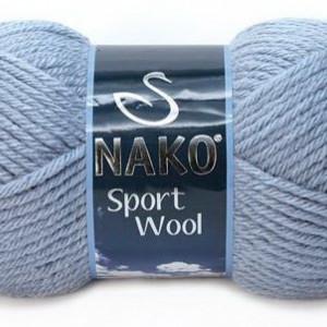 Fir de tricotat sau crosetat - Fire tip mohair din acril si lana Nako Sport Wool BLEO 11223