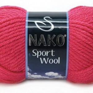 Fir de tricotat sau crosetat - Fire tip mohair din acril si lana Nako Sport Wool ROZ 10116
