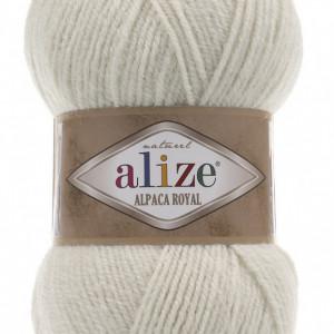 Fir de tricotat sau crosetat - Fire tip mohair din alpaca 30%, lana 15%, acril 55% Alize Alpaca Royal BEJ 152