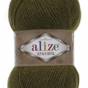 Fir de tricotat sau crosetat - Fire tip mohair din alpaca 30%, lana 15%, acril 55% Alize Alpaca Royal VERDE 233