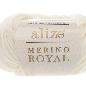 Fir de tricotat sau crosetat - Fire tip mohair din lana 100%, ALIZE MERINO ROYAL CREAM 62