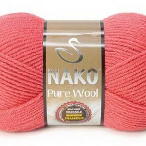 Fir de tricotat sau crosetat - Fire tip mohair din lana 100% Nako PURE WOOL ROZ 11208