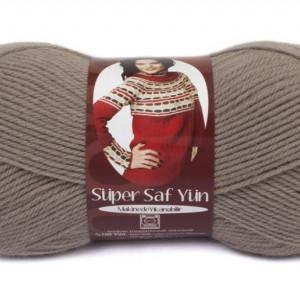 Fir de tricotat sau crosetat - Fire tip mohair din lana 100% Nako Super SAF YUN GRI 257