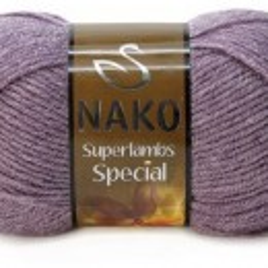 Fir de tricotat sau crosetat - Fire tip mohair din lana 50% si acril 50% Nako Superlambs Special gri 23331