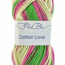 Fir de tricotat sau crosetat - Fire tip mohair din poliester Filo Blu - Cotton Love - 04 DEGRADE