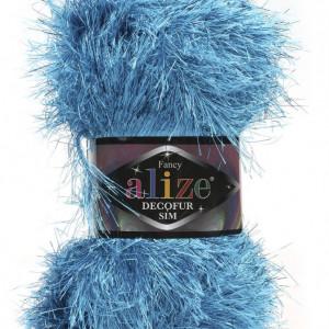 Fir de tricotat sau crosetat - FANCY - ALIZE DECOFUR SIM - ALBASTRU - 245