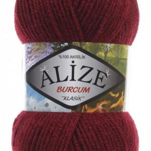 Fir de tricotat sau crosetat - Fir ACRILIC ALIZE BURCUM KLASIK GRENA 57