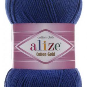 Fir de tricotat sau crosetat - Fir ALIZE COTTON GOLD ALBASTRU 389