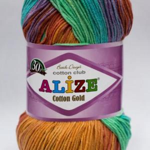 Fir de tricotat sau crosetat - Fir ALIZE COTTON GOLD BATIK - DEGRADE 4530