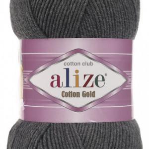 Fir de tricotat sau crosetat - Fir ALIZE COTTON GOLD GRI MELANJ 182