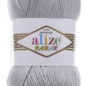Fir de tricotat sau crosetat - Fir BUMBAC 100% ALIZE BAHAR GRI 21