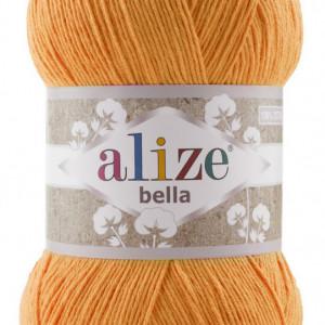 Fir de tricotat sau crosetat - Fir BUMBAC 100% ALIZE BELLA 100 - PORTOCALIU 83