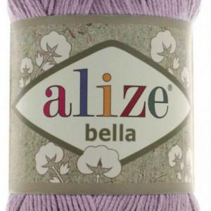Fir de tricotat sau crosetat - Fir BUMBAC 100% ALIZE BELLA - LILA 505
