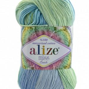 Fir de tricotat sau crosetat - Fir BUMBAC 100% ALIZE MISS BATIK DEGRADE 3721