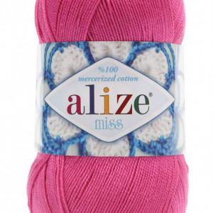 Fir de tricotat sau crosetat - Fir BUMBAC 100% ALIZE MISS ROZ 130