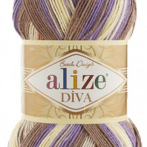 Fir de tricotat sau crosetat - Fir microfibra ALIZE DIVA BATIK DEGRADE 7391