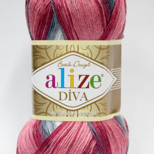 Fir de tricotat sau crosetat - Fir microfibra ALIZE DIVA BATIK DEGRADE 5740