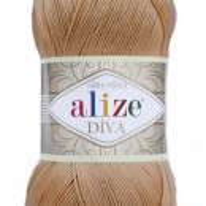 Fir de tricotat sau crosetat - Fir microfibra ALIZE DIVA BEJ 369