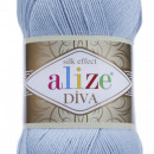 Fir de tricotat sau crosetat - Fir microfibra ALIZE DIVA BLEO 350