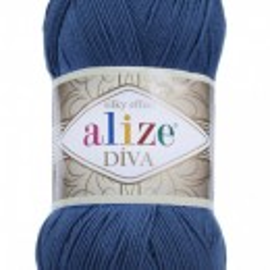 Fir de tricotat sau crosetat - Fir microfibra ALIZE DIVA BLEUMARIN 279