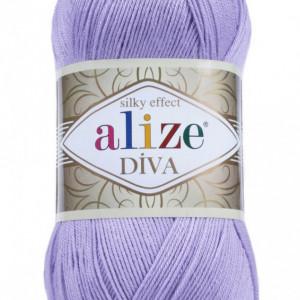 Fir de tricotat sau crosetat - Fir microfibra ALIZE DIVA LILA 158