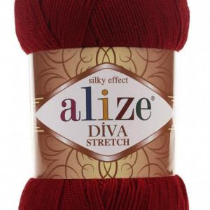Fir de tricotat sau crosetat - Fir microfibra ALIZE DIVA STRETCH GRENA 57