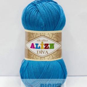 Fir de tricotat sau crosetat - Fir microfibra ALIZE DIVA TURQUAZ 245