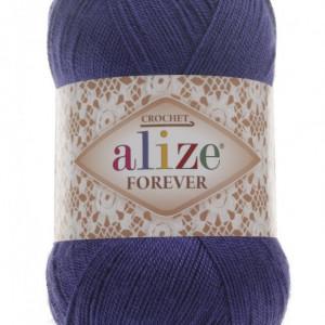 Fir de tricotat sau crosetat - Fir microfibra ALIZE FOREVER ALBASTRU 141