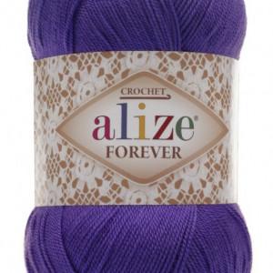 Fir de tricotat sau crosetat - Fir microfibra ALIZE FOREVER MOV 252