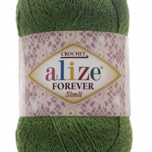 Fir de tricotat sau crosetat - Fir microfibra ALIZE FOREVER SIMLI VERDE 35