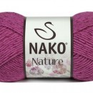 Fir de tricotat sau crosetat - Fire amestec Bumbac + Acril + Vascoza NAKO NATURE Roz 10550