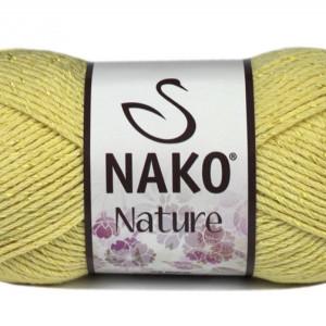 Fir de tricotat sau crosetat - Fire amestec Bumbac + Acril + Vascoza NAKO NATURE Galben 4848
