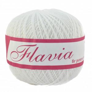 Fir de tricotat sau crosetat - Fire Bumbac 100% FLAVIA ROMANOFIR BOBINA ALB 1202