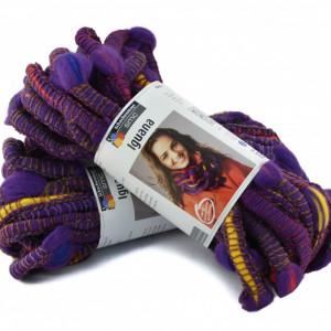 Fir de tricotat sau crosetat - Fire pretricotat esarfa COATS - IGUANA- DEGRADE 81