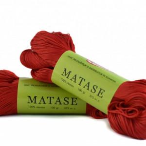 Fir de tricotat sau crosetat - Fire tip matase din vascoza Canguro - ROSU -309 -