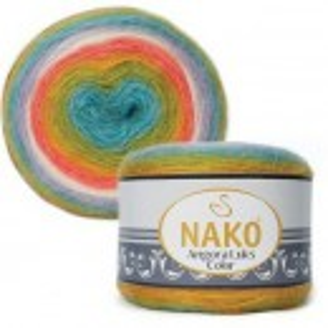 Fir de tricotat sau crosetat - Fire tip mohair acril NAKO ANGORA LUKS COLOR 81910